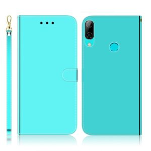 For Huawei P Smart (2019) Imitated Mirror Surface Horizontal Flip Leather Case with Holder & Card Slots & Wallet & Lanyard(Mint Green)