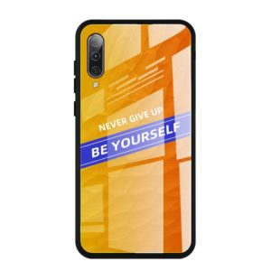 For Galaxy A50 Shockproof PC + TPU + Glass Protective Case(Yellow)