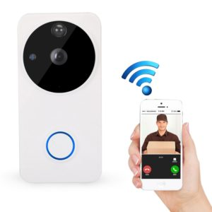 WF04 HD 720P Security Camera Smart WiFi Intercom Video Doorbell, Support Infrared Night Vision / Motion Detection(White)