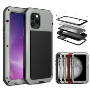 For iPhone 11 Metal Armor Triple Proofing Protective Case(Silver)