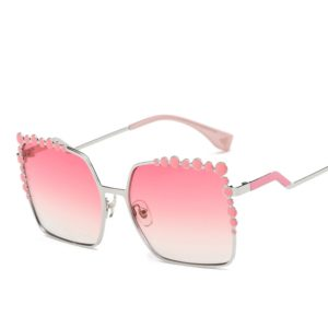 Women Square Color Lens UV400 Protection Sunglasses