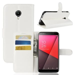 Litchi Texture Horizontal Flip Leather Case for Vodafone Smart N9 Lite / VFD 620, with Wallet & Holder & Card Slots(White)