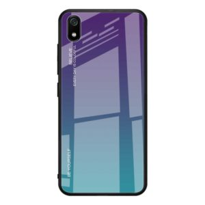 For Xiaomi Redmi 7A Gradient Color Glass Case(Purple)