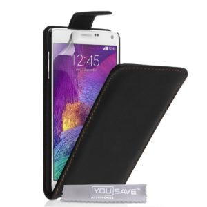 YouSave Accessories Θήκη για Samsung Galaxy Note 4 by YouSave Accessories μαύρη και δώρο screen protector