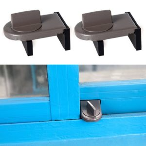 2 PCS Sliding Sash Stopper Cabinet Locks & Straps Doors Security Anti-theft Lock Window Door Baby Safety Lock