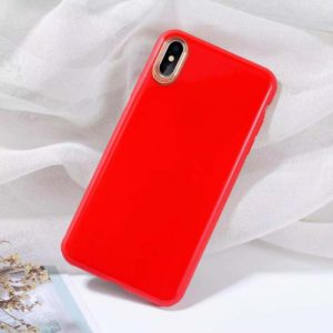 SULADA Solid Color Electroplating TPU Case for iPhone XS(Red) (SULADA)