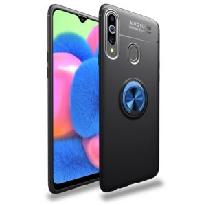 For Galaxy A20s Lenuo Shockproof TPU Protective Case with Invisible Holder(Black Blue) (lenuo)