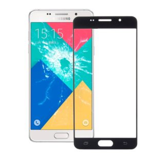 Front Screen Outer Glass Lens for Galaxy A7 (2016) / A710(Black)