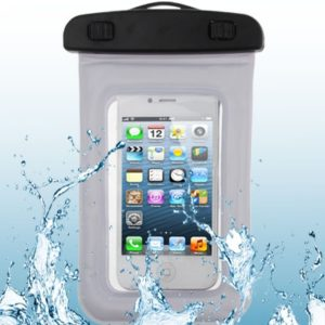 High Quality Waterproof Bag Protective Case for iPhone 5 & 5s & SE / iPhone 4 & 4S / 3GS / Other Similar Size Mobile Phones (White)