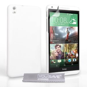 YouSave Accessories Θήκη για HTC Desire 816 by YouSave λευκή και screen protector