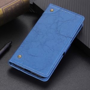 Copper Buckle Retro Crazy Horse Texture Horizontal Flip Leather Case for Asus Zenfone 6 ZS630KL, with Holder & Card Slots & Wallet (Blue)