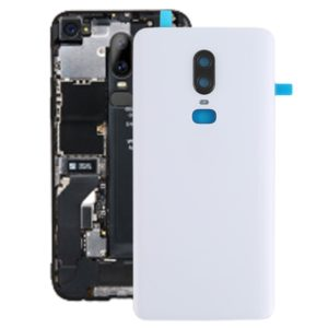 Smooth Surface Battery Back Cover for OnePlus 6(White)