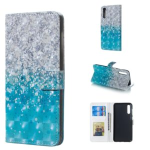 Sea and Sand Pattern 3D Horizontal Flip Leather Case for Galaxy A50, with Holder & Card Slots & Photo Frame & Wallet