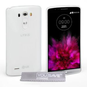 YouSave Accessories Θήκη σιλικόνης για LG G4 ημιδιάφανη by YouSave και screen protector