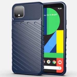 For Google Pixel 4 XL Thunderbolt Shockproof TPU Soft Case(Dark Blue)