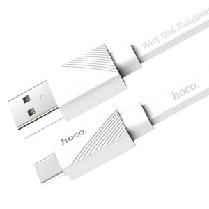 Hoco U34 2.4A 1.2m Type C to USB Fast Charging Cord Charge Cable, For Samsung / Huawei P9 / Xiaomi 5 / Meizu Pro 5 / LG / HTC and Other Smartphones (White) (hoco)