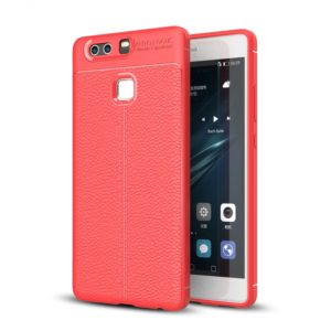 For Huawei P9 Plus Litchi Texture TPU Protective Case (Red)