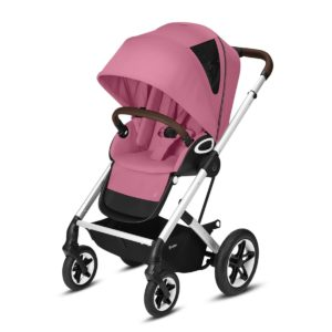 Cybex Βρεφικό Καρότσι Talos S Lux, Magnolia Pink (Silver Frame)
