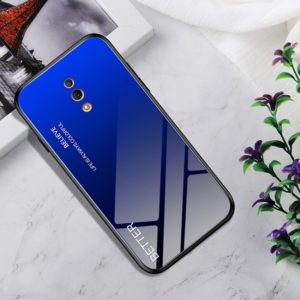 Shockproof Tempered Glass + TPU Case For OPPO Reno(Black Blue)