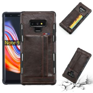 For Galaxy Note 9 PU + TPU Shockproof Protective Leather Case with Card Slots(Coffee)