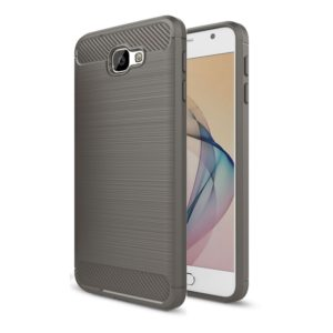 For Galaxy J7 Prime & On7(2016) / G610 Brushed Texture Carbon Fiber TPU Protective Case(Grey)