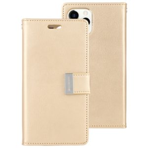 For iPhone 11 Pro Max MERCURY GOOSPERY RICH DIARY Crazy Horse Texture Horizontal Flip Leather Case with Holder & Card Slots & Wallet(Gold) (GOOSPERY)
