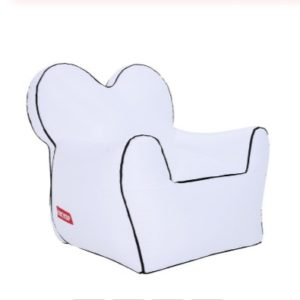 Outdoor Portable Single Moisture Water Proof Inflatable Lazy Sofa Bean, Size:80x90x80cm(White)