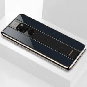 Electroplated Mirror Glass Case for Huawei Mate 20(Black)