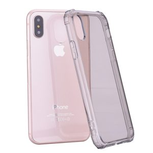 Simple Style TPU Hockproof Protective Cover Case for iPhone X / XS (Grey)
