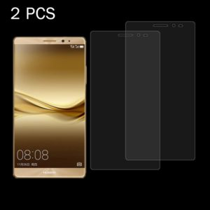 2 PCS for Huawei Mate 8 0.26mm 9H+ Surface Hardness 2.5D Curved Explosion-proof Tempered Glass Film