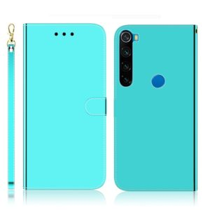 For Xiaomi Redmi Note 8 Imitated Mirror Surface Horizontal Flip Leather Case with Holder & Card Slots & Wallet & Lanyard(Mint Green)