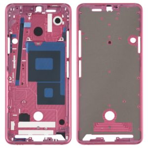 Front Housing LCD Frame Bezel Plate for LG G7 ThinQ / G710 (Pink)
