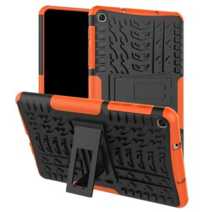 Tire Texture TPU+PC Shockproof Case for Galaxy Tab A 8 (2019) P200 / P205, with Holder (Orange)