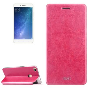 MOFI for Xiaomi Max 2 Crazy Horse Texture Horizontal Flip Leather Case with Holder (Magenta) (MOFI)