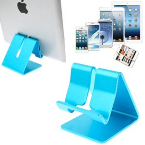 Aluminum Stand Desktop Holder, For iPad, iPhone, Galaxy, Huawei, Xiaomi, HTC, Sony, and other Mobile Phones or Tablets(Blue)