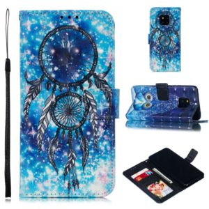 Leather Protective Case For Huawei Mate 20 Pro(Blue Windbell)