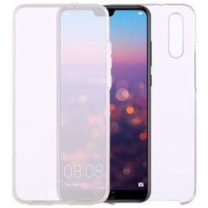 0.75mm Double-sided Ultra-thin Transparent PC + TPU Case for Huawei P20
