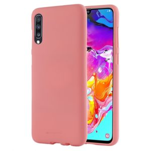 GOOSPERY SOFT FEELING Liquid TPU Drop Protection Soft Shell for Galaxy A70(Pink) (GOOSPERY)