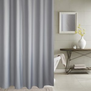 Thickening Waterproof And Mildew Curtain Honeycomb Texture Polyester Cloth Shower Curtain Bathroom Curtains,Size:150*180cm(Grey)