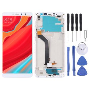 LCD Screen and Digitizer Full Assembly with Frame for Xiaomi Redmi S2 / Y2(White)