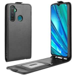 For OPPO Realme 5 Pro / Realme Q Crazy Horse Vertical Flip Leather Protective Case(Black)