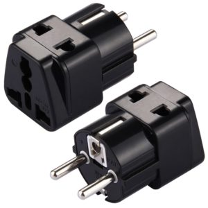 WD-9 Portable Universal Plug to (French / German) EU Plug Adapter Power Socket Travel Converter