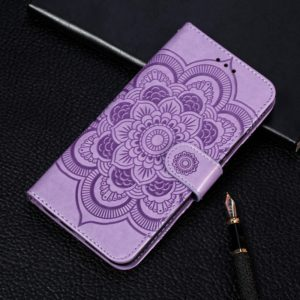 Mandala Embossing Pattern Horizontal Flip Leather Case for Xiaomi Mi CC9e / A3, with Holder & Card Slots & Wallet & Photo Frame & Lanyard(Purple)