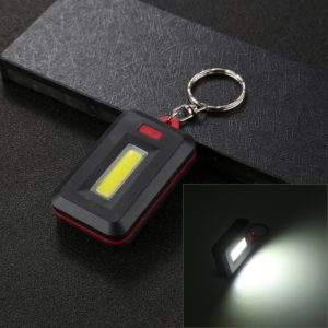 3W White Light COB LED Flashlight , Portable Small Light with Key Chain, Random Color Delivery