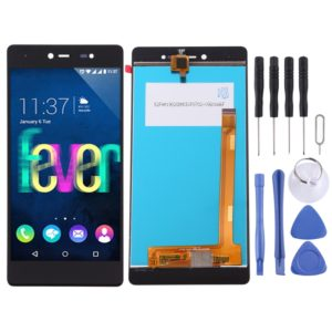 LCD Screen and Digitizer Full Assembly for Wiko Fever 4G(Black)