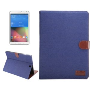 Denim Surface PU Leather Case with Holder & Card Slots & Wallet for Galaxy Tab S2 9.7 / T815(Dark Blue)