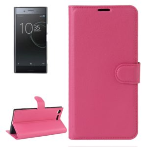 For Sony Xperia XZ Premium Litchi Texture Horizontal Flip Leather Case with Holder & Card Slots & Wallet(Magenta)