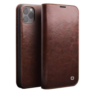 QIALINO Θήκη iphone 11 Pro Max 6.5 genuine Leather QIALINO Classic Wallet Case-Brown