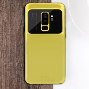 MOFI Full Coverage High Alumina Glass + PC + Lens Face Parnt Protective Back Case for Galaxy S9 Plus(Yellow) (MOFI)
