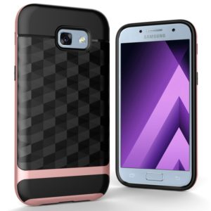For Galaxy A3 (2017) / A320 3D Diamond TPU+PC Protective Combination Case (Rose Gold)